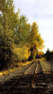 Photograph - The Rail To Home by Jennifer Lake