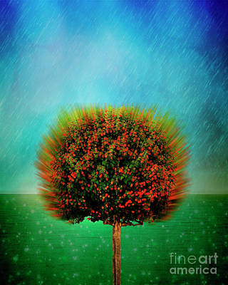 Digital Art - The Rain In Spain by Edmund Nagele