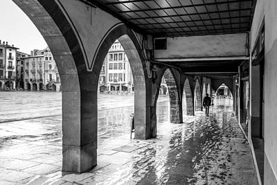 Photograph - The Rain In Spain Monochrome by Randy Scherkenbach
