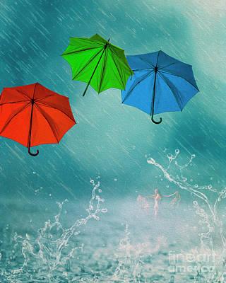 Digital Art - The Rain In The Plain by Edmund Nagele