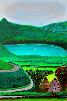 Fruit Tree Art Painting - The Rain Into The Earth by Lorna Maza