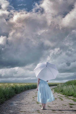 Blue Dress Photograph - The Rain Is Coming by Joana Kruse