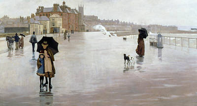 Promenade Painting - The Rain It Raineth Every Day by Norman Garstin