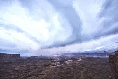 Clouds In The Sky Digital Art - The Rain Keeps Coming II by Jon Glaser