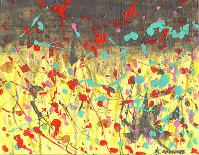 Wall Art - Painting - The Rain On My Parade by Kat Micari