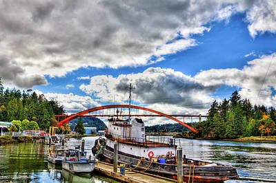 Photograph - The Rainbow Bridge - Laconner Washington by David Patterson