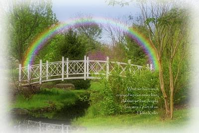 Photograph - The Rainbow Bridge - Losing A Pet  by Angie Tirado