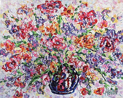Painting - The Rainbow Flowers by Leonard Holland