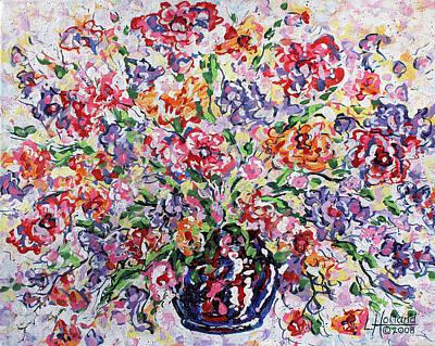 Painting - The Rainbow Flowers by Leonard Holland