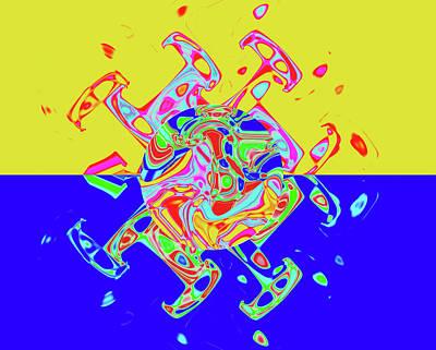 Tv Set Digital Art - The Rainbow Wedding Of A Happy Life by Sir Josef - Social Critic -  Maha Art