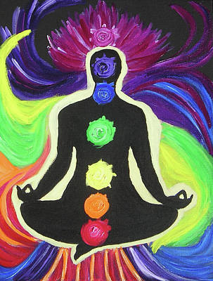 Chakra Rainbow Painting - The Rainbow Within by Antje Schroeter