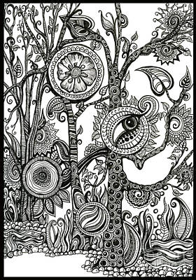 Drawing - The Rainforest by Danielle Scott