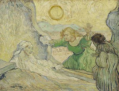 Painting - The Raising Of Lazarus After Rembrandt Saint Remy De Provence  May 1890 Vincent Van Gogh 1853  by Artistic Panda