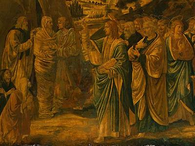 Painting - The Raising Of Lazarus Detail by Gozzoli Benozzo