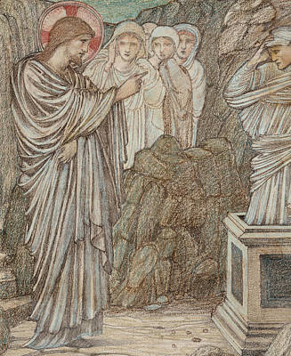 Sir Drawing - The Raising Of Lazarus by Edward Burne-Jones