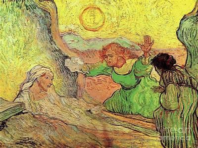 Raising Mixed Media - The Raising Of Lazarus by Van Gogh