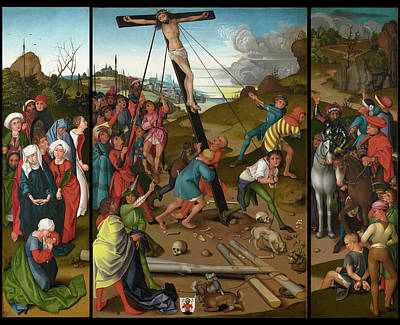 Painting - The Raising Of The Cross  by Master Of The Starck Triptych