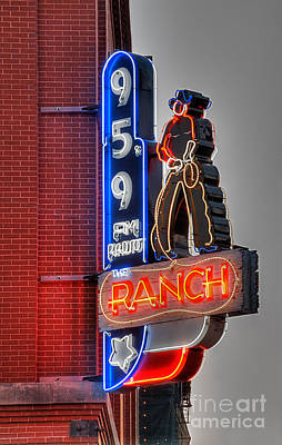 Sign Photograph - The Ranch by Hilton Barlow
