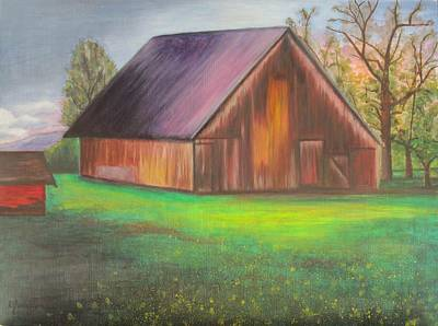 The Ranch Art Print by Leslie Gustafson