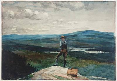Winslow Homer Drawing - The Ranger. Adirondacks by Winslow Homer