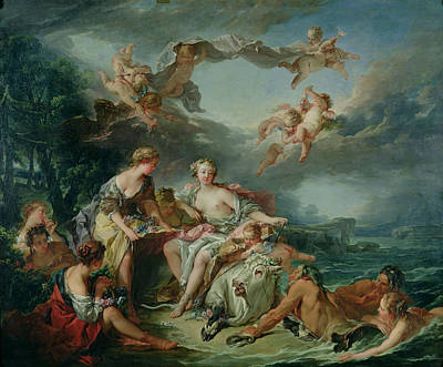 Rape Painting - The Rape Of Europa by Francois Boucher