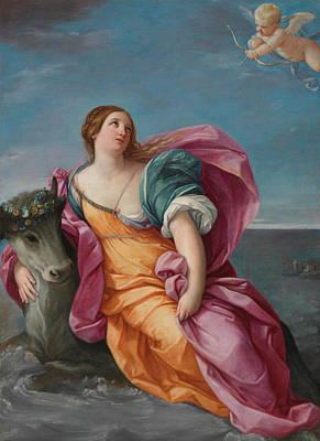 Crete Painting - The Rape Of Europa by Guido Reni