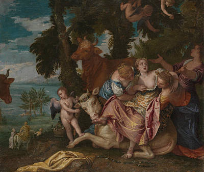 Rape Painting - The Rape Of Europa by Paolo Veronese