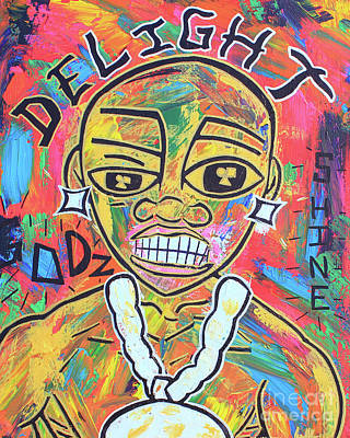 Painting - The Rappers Delight  by Odalo Wasikhongo