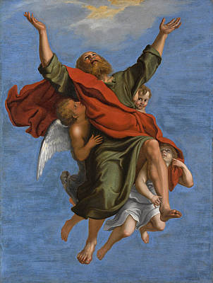 Painting - The Rapture Of Saint Paul by Follower of Domenichino
