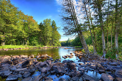 Buttermilk Falls Photograph - The Raquette River by David Patterson