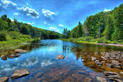 Canoes Photograph - The Raquette River Headwaters by David Patterson