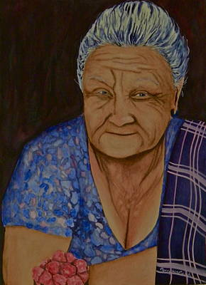 The Raspberry Lady Original by Terry Honstead