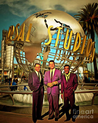 Photograph - The Rat Pack Frank Sinatra Dean Martin And Sammy Davis Jr At Universal Studios California 20170502 by Wingsdomain Art and Photography