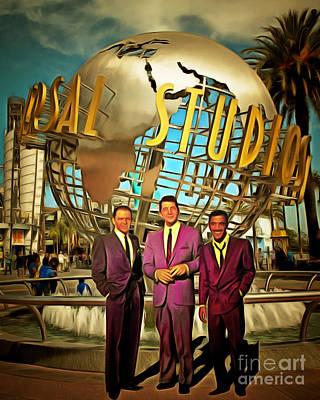 Photograph - The Rat Pack Frank Sinatra Dean Martin And Sammy Davis Jr At Universal Studios California 20170502 by Wingsdomain Art and Photography
