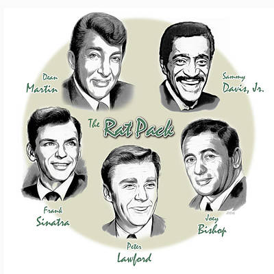 Frank Sinatra Digital Art - The Rat Pack by Greg Joens