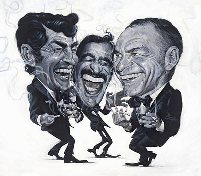Rat Pack Painting - The Rat Pack by Thomas Fluharty