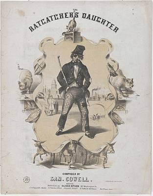 Music Paintings - The Ratcatcher s Daughter  Sheet music cover   by Winslow Homer    1836  1910 by Artistic Panda