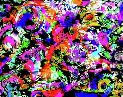 Painting - The Rave  by Expressionistart studio Priscilla Batzell