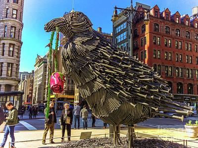 Amy Hamilton Animal Collage - The Raven Bird sculpture #1 by Julian Starks