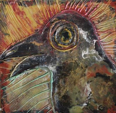 Painting - The Raven by Gitta Brewster