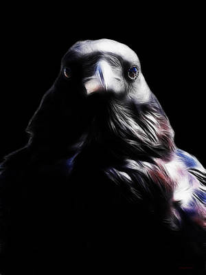 The Raven In My Dreams Art Print by Wingsdomain Art and Photography