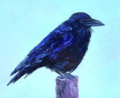 Australian Native Painting - The Raven by Jan Matson