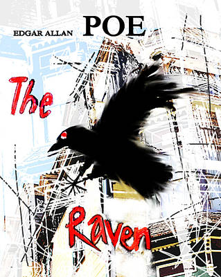 Imaginary Worlds Mixed Media - The Raven Poster  by Paul Sutcliffe