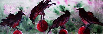 The Raven Still Beguiling Art Print by Sandy Applegate