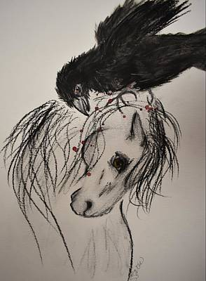 Painting - The Raven by Susan Voidets