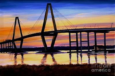 The Ravenel Bridge Print by Matty Dreadlocks