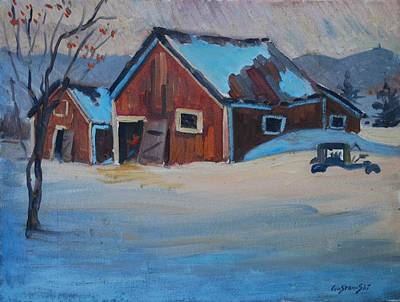 Painting - The Raymond Serre Farm by Len Stomski