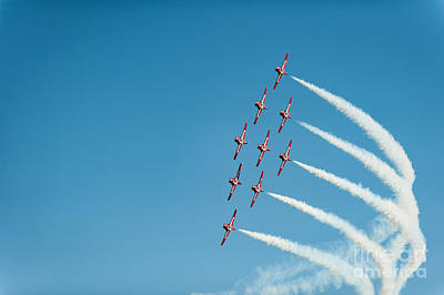 Photograph - The Rcaf Snowbirds by Wayne Wilton