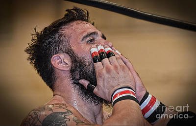 Photograph - The Reaction To The Decision Pro Wrestler Joe Graves     by Jim Fitzpatrick
