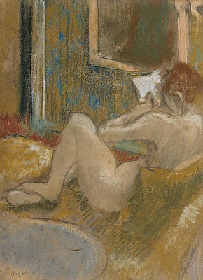 Pastel - The Reading Light by Edgar Degas